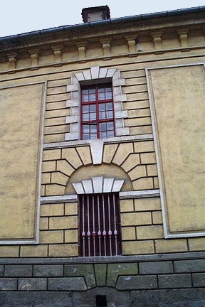 Detail of old building at Theresienstadt
