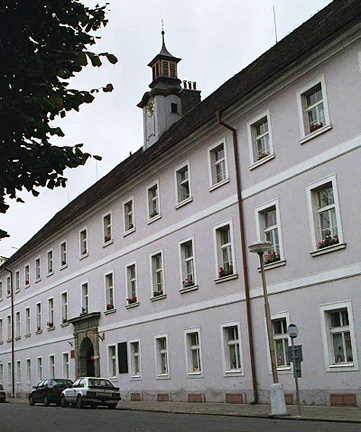 Theresienstadt building where live theater performances were held