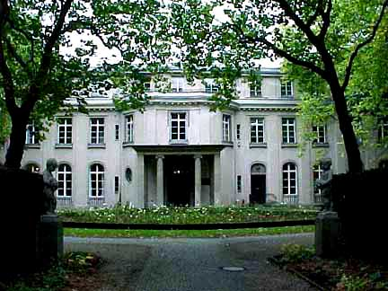 The front of the Wannsee house where the conference was held