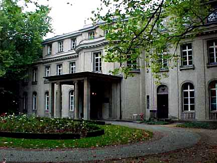 The Wannsee house where the conference was held