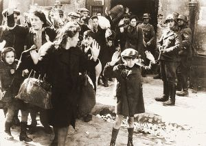 Famous photo that was allegedly taken in the Warsaw ghetto uprising