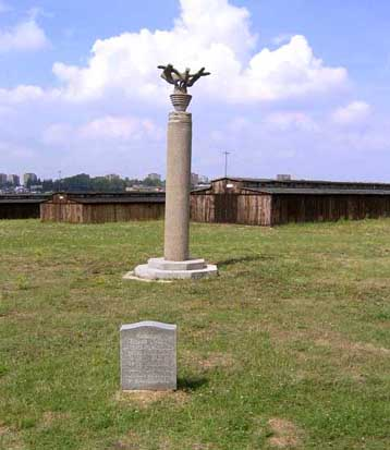 This monument in Field III at Majdanek was done by one of the priosoners