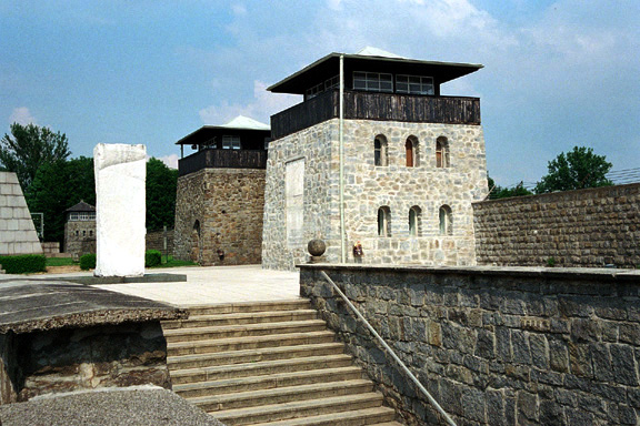 My photo which shows another view of the Mauthausen entrance