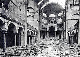 Photo taken in the aftermath of Kristallnacht