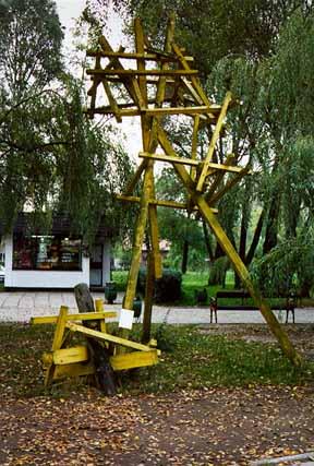Jewish artwork displayed at Auschwitz in 1998