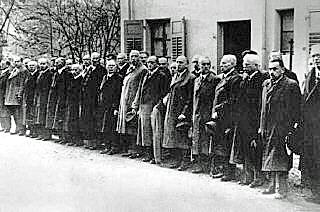 Jews from Baden-Baden who were sent to Dachau after Kristallnacht