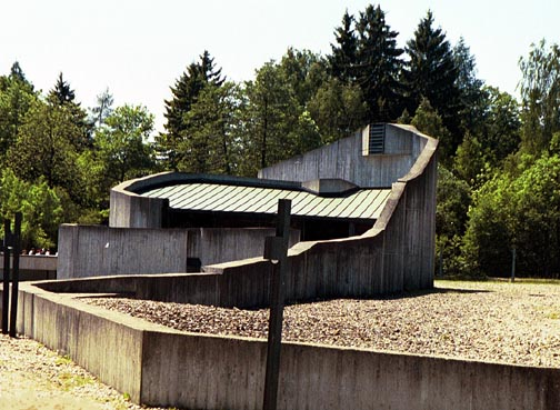 Another view of the modern church at Dachau