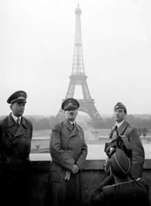 After Germany conquered France, Hitler visited the Eifel tower