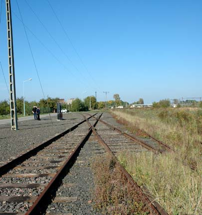 The Judenrampe at Auschwitz where Jews got off the trains