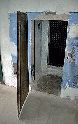 My photo of a one-person prison cell at Natzweiler camp