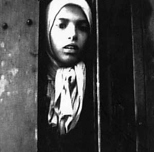 Famous photo of a Gypsy girl named Settela Steinbachj on a train to Auschwitz