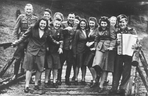 Auschwitz personnel on holiday