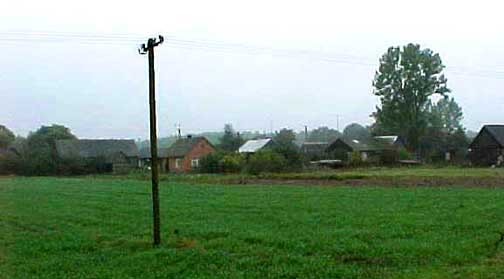 My 19989 photo of the tiny village of Treblinka near the Treblinka camp