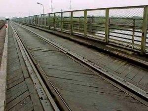 One lane bridge over the Bug river, on the way to Treblinka