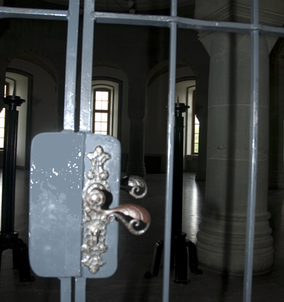 My photo of the lock on the door into the General's Hall