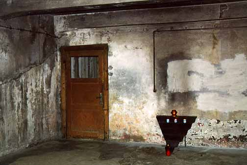 My 1998 photo of the alleged entrance into the Auschwitz gas chamber