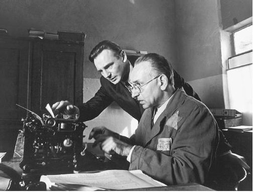 A scene from the movie entitled Schindler's List
