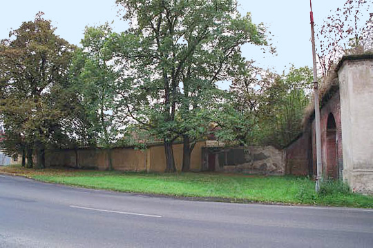 The location of the alleged gas chamber at Theresienstadt