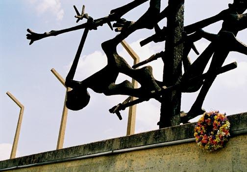 My photo of artwork at Dachau