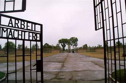 My photo of the gate into the Sachsenhausen camp