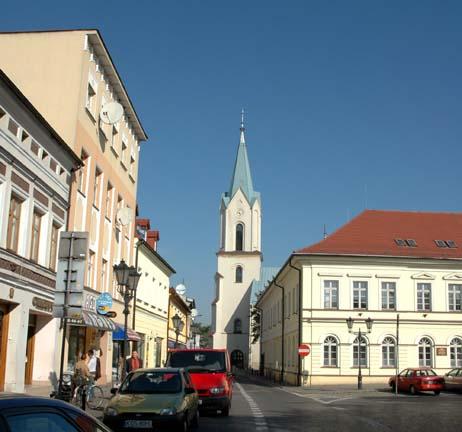 Market Square in town of Auschwitz