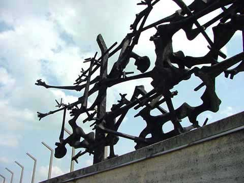 My photo of the Dachau monument designed by Nandor Glid