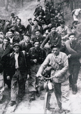 Death march out of the Sachsenhausen camp