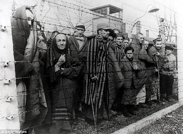 Survivors of the main Auschwitz camp