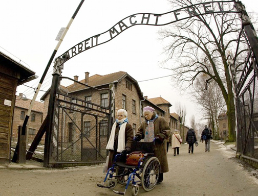 Arbeit macht Frei gate at Auschwitz main camp REUTERS