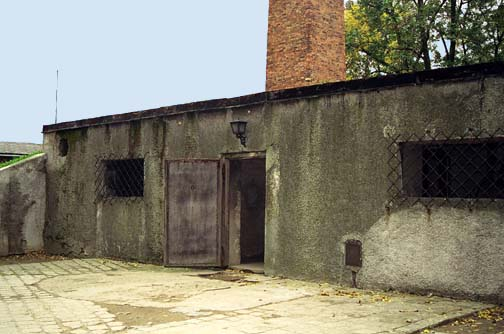 Entrance to gas chamber was near the SS hospital