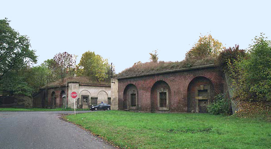 The alleged gas chamber at Theresienstadt was located near this spot
