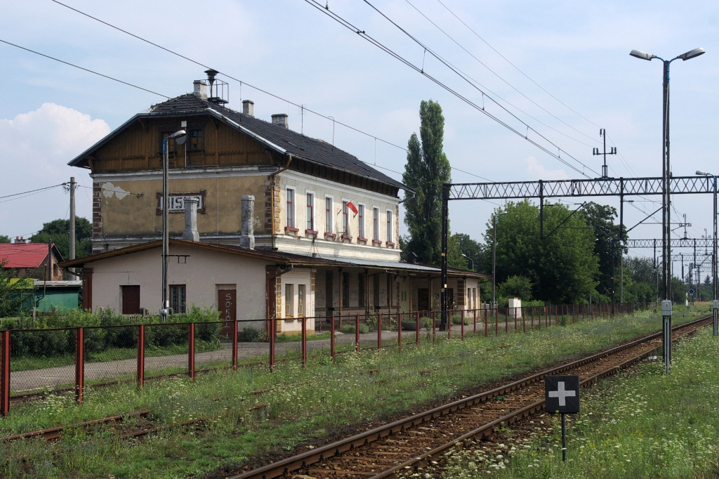 Railroad station in Nisko Poland