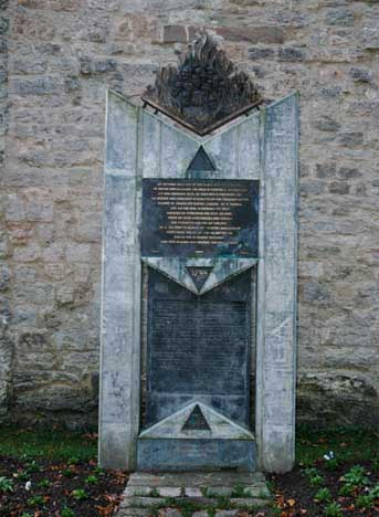 Memorial to the Jews who were expelled from Rothenburg in 1298