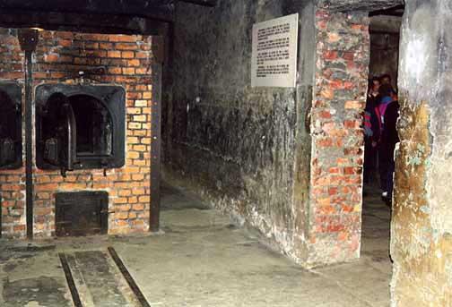 Ovens in Auschwitz crematorium were right next to the alleged gas chamber