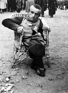 Photo of an inmate at Auschwitz
