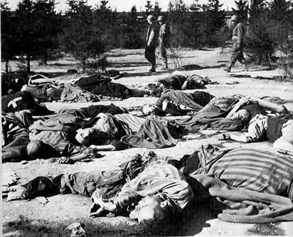 Dead prisoners at the Ohrdruf camp