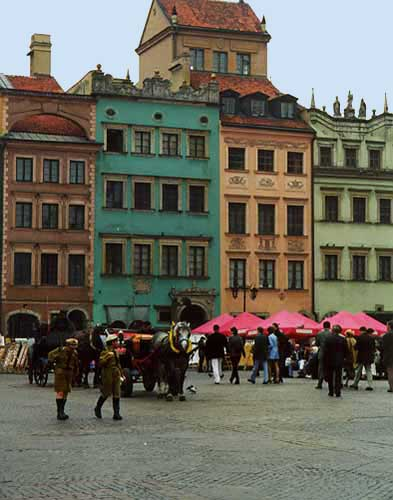 My 1998 photo of old town Warsaw