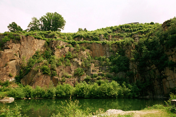 Prisoners at Mauthausen were allegedly force to jump off this cliff