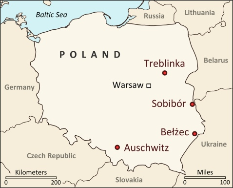 Image result for Polish death camps maps