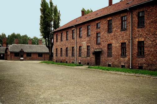Barracks for German soldiers at Auschwitz