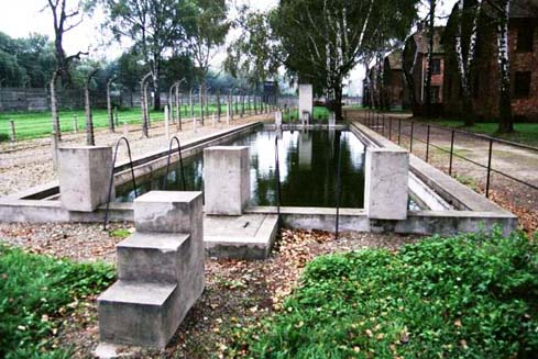 Swimming pool in Auschwitz main camp