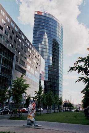Modern building in historic city of Berlin