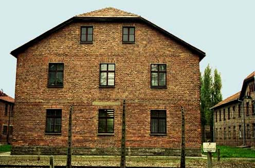 Barrack building Auschwitz main camp