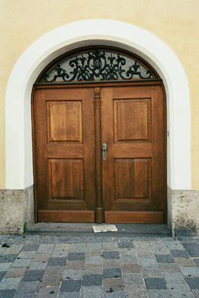 Door into the building where Hitler was born