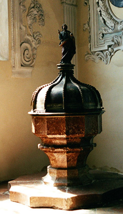 The Holy Font which held the water with which Hitler was baptized