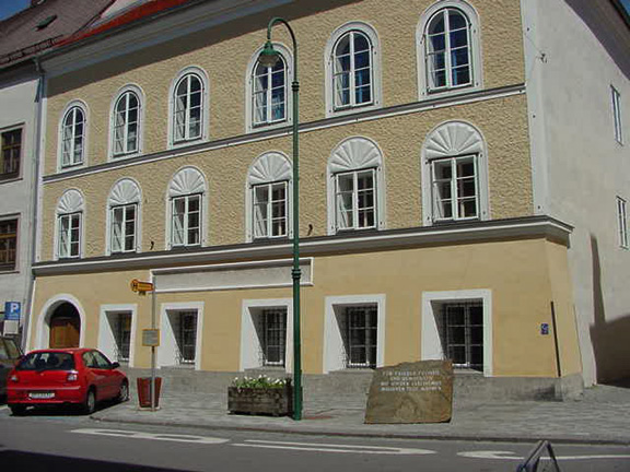 The house where Hitler was born on April 20, 1889