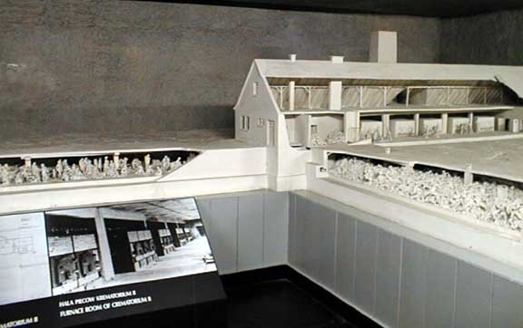 Model of the Krema II gas chamber at Auschwitz-Birkenau