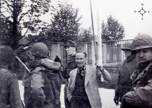 Another photo of the surrender of the Dachau camp