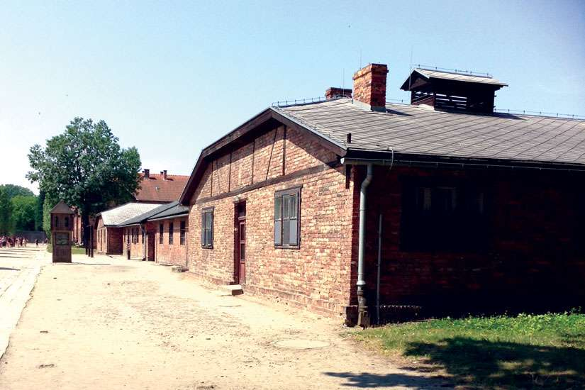 Photo of Auschwitz main camp taken by student trip