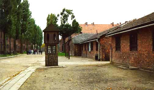 My 1998 photo of kitchen building in Auschwitz main camp